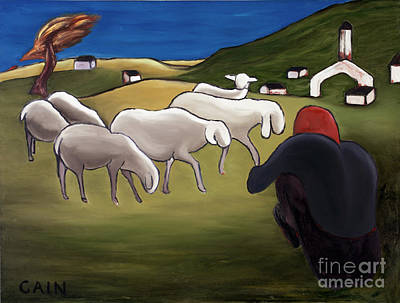 Painting - Sheep Herder  by William Cain