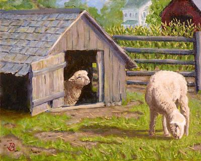 Sheep House Art Print by Joe Bergholm