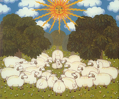 Rays Painting - Sheep  by Ditz