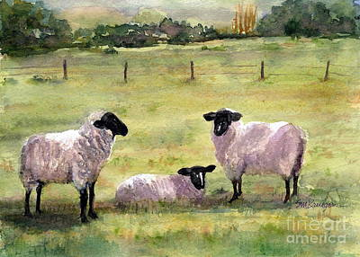 Painting - Sheep In The Meadow by Suzanne Krueger