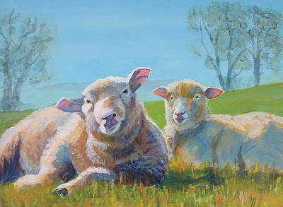 Painting - Sheep Lying Down by Mike Jory
