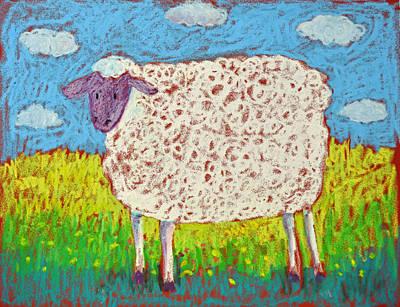 Pastel - Sheep by Pat Olson