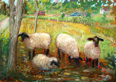 Painting - Sheep by Paul Emory