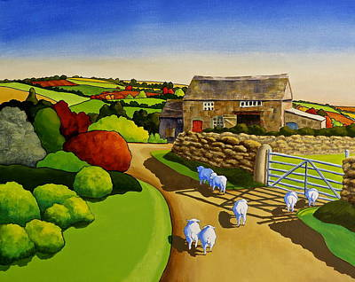 Painting - Sheep Tails by Jo Appleby