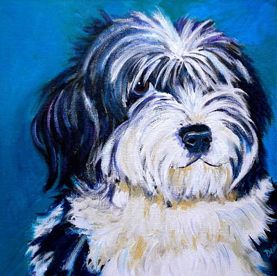 Puppy Lover Painting - Sheepish by Debi Starr