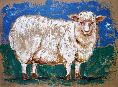 Sheepish Art Print by Sheila Diemert