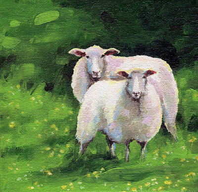 Painting - Sheeps by Natasha Denger