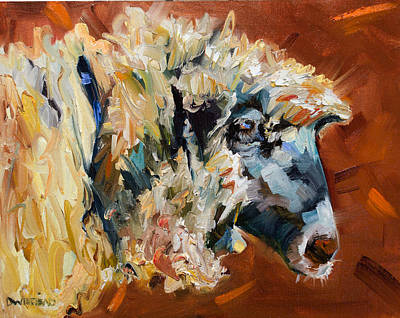 Painting - Sheepy Time by Diane Whitehead