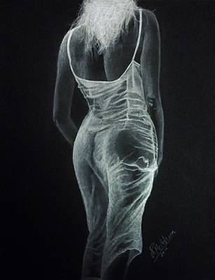 Art Print featuring the drawing Sheer Elegance by James McAdams