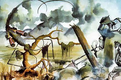 Rivets Painting - Sheer Mayhem by Stephen Brooks