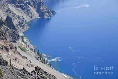 Photograph - Sheer Walls Of The Crater Lake Caldera by Ellen Thane
