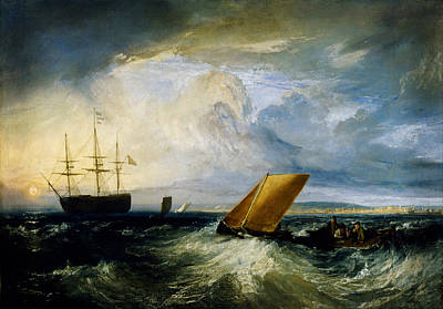 Turner Artwork Painting - Sheerness As Seen From The Nore by Celestial Images
