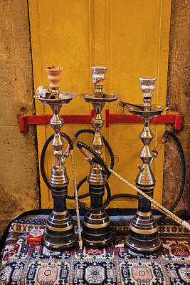 Asian Culture Photograph - Sheesha Pipes, Jerusalem, Israel by Keren Su