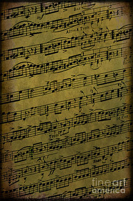 Old Sheet Music Photograph - Sheet Music by Margie Hurwich