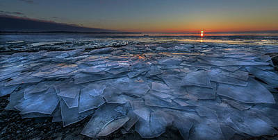 Ontario Photograph - Sheets Of Ice by Susan Breau
