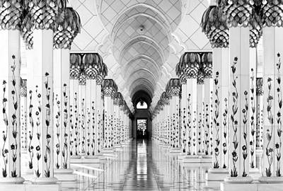 Doorway Photograph - Sheik Zayed Mosque by Hans-wolfgang Hawerkamp