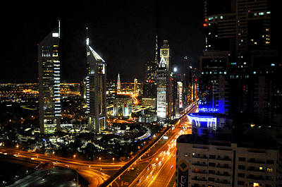 Photograph - Sheik Zayed Road by Andrew Dinh