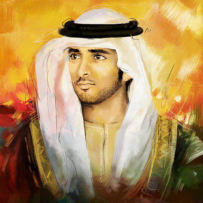 Princes Painting - Sheikh Hamdan Bin Mohammed by Corporate Art Task Force