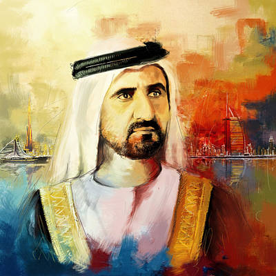 Princes Painting - Sheikh Mohammed Bin Rashid Al Maktoum by Corporate Art Task Force
