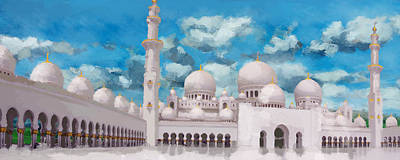 Jordan Painting - Sheikh Zayed Mosque by Catf