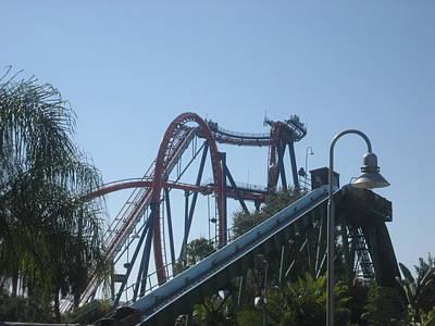 Rollercoaster Photograph - Sheikra Roller Coaster - Busch Gardens Tampa - 01131 by DC Photographer