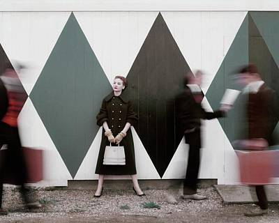Coat Photograph - Sheila Kilgore Amid Passersby by Leombruno-Bodi