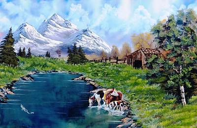 Wet On Wet Painting - Sheila's Ranch by Alfred Stringer