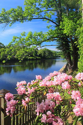 Shelburne Falls Photograph - Shelburne Falls Deerfield River And Bridge Of Flowers by John Burk