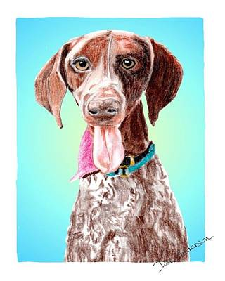 Animal Shelter Drawing - Shelby - A Former Shelter Sweetie by Dave Anderson