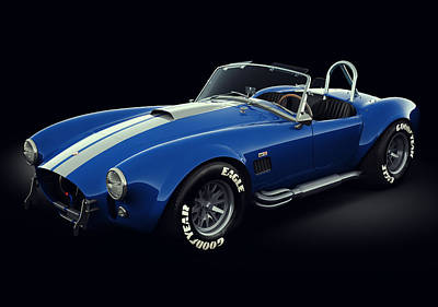 Art Print featuring the digital art Shelby Cobra 427 - Bolt by Marc Orphanos