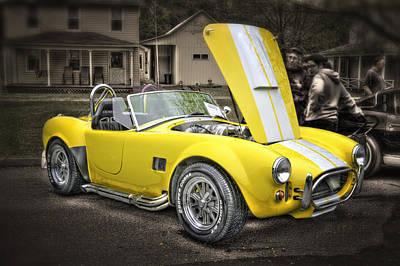 Yellow Cobra Photograph - Shelby Cobra by David B Kawchak Custom Classic Photography