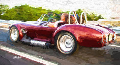Cobra Mixed Media - Shelby Cobra by Garland Johnson