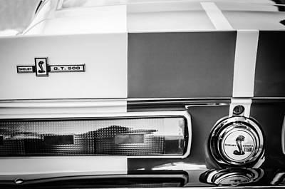 Photograph - Shelby Cobra G.t. 500 Rear Emblems -0036bw by Jill Reger