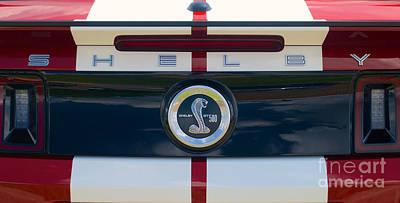 Photograph - Shelby Cobra Tailgate Emblem by Mark Dodd