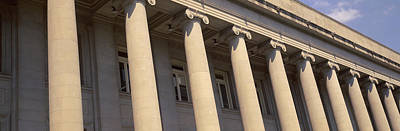 Shelby County Courthouse Columns Art Print