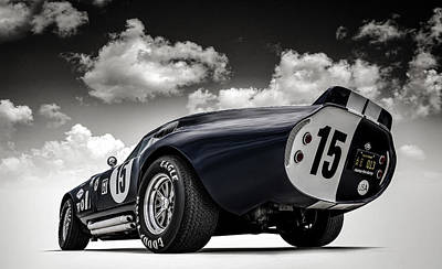 Cobra Digital Art - Shelby Daytona by Douglas Pittman