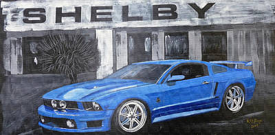 Painting - Shelby Mustang by Richard Le Page