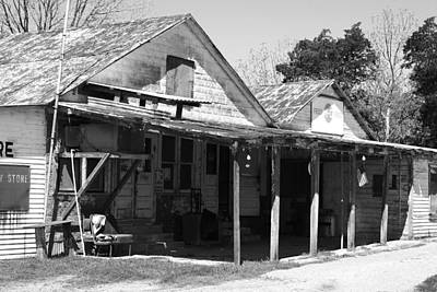Photograph - Shelby Store Bw by Connie Fox