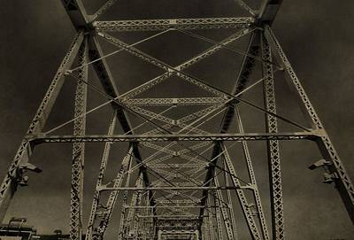 Nashville Tennessee Photograph - Shelby Street Bridge Details Nashville by Dan Sproul