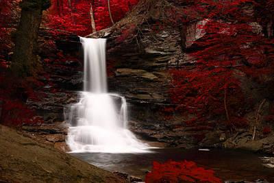 Sheldon Reynolds Waterfalls Art Print by David Simons