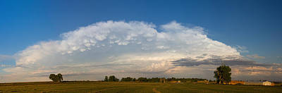 Photograph - Shelf Cloud Mamacumulus Leading Edge  by James BO Insogna