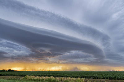 Photograph - Shelf Clouds by Rob Graham