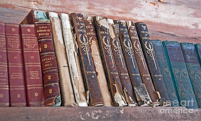 Photograph - Shelf Of Vintage Books Art Prints by Valerie Garner