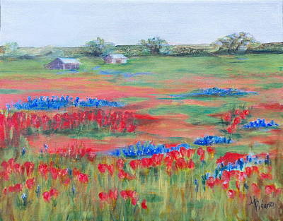 Painting - Shelia  Fields by Maureen Pisano