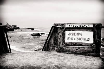 Shell Beach Sign Art Print by Tanya Harrison