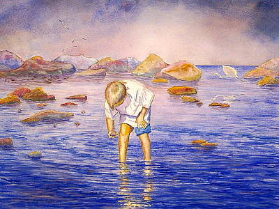 Painting - Shell Collecting by AnnaJo Vahle