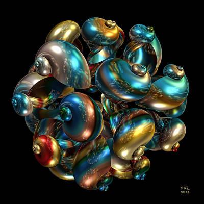 Digital Art - Shell Congregation by Manny Lorenzo