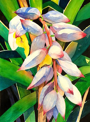 Variegated Painting - Shell Ginger Flower by Jelly Starnes