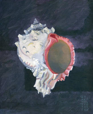 Painting - Shell In Opaque Sea by Katherine Miller