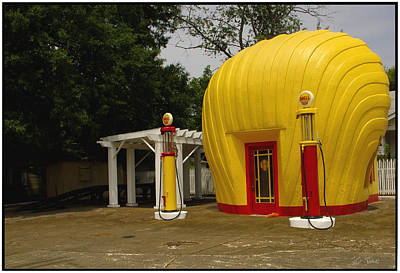 Photograph - Shell Oil Gas Station by James C Thomas